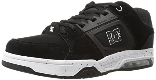 DC Men's Rival Skateboarding Shoe, Black/White, 6.5 M US
