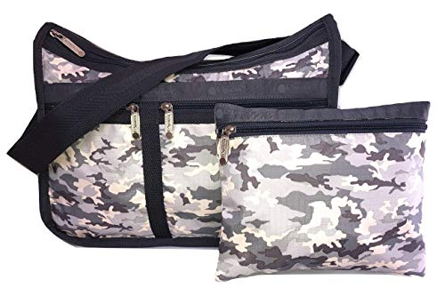 LeSportsac Camo Concert Deluxe Everyday Crossbody Bag + Cosmetic Bag