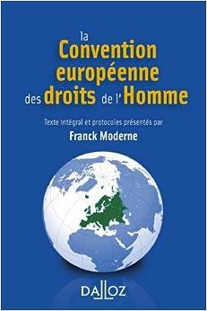 Book's Cover of La Convention européenne des droits de l'Homme - 3e éd. (Français) Broché – 18 juillet 2012