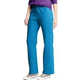 Women's Fleece Pant Open Leg Sweatpants, Regular S – 2XL