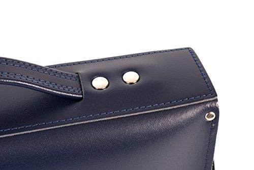 Oxbridge Satchels, Borsa a secchiello donna Blu blu