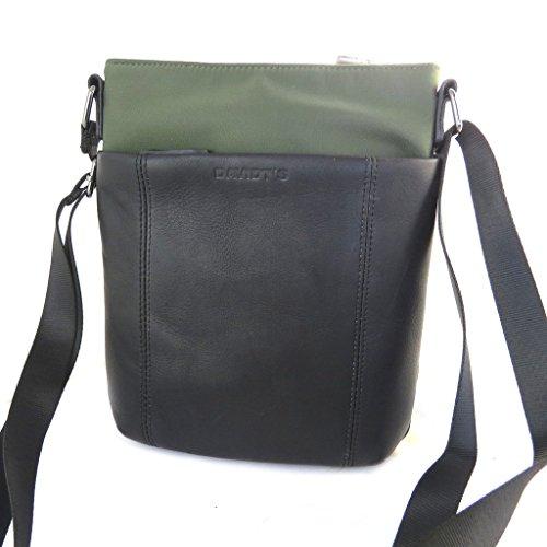 Borsa a tracolla Indispensableverde scuro (1 scomparto)- 24x21x5.5 cm.