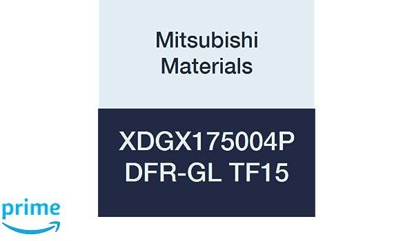 Pack of 10 Class G Mitsubishi Materials XDGX175004PDFR-GL TF15 XDGX Series Carbide Milling Insert Special Design Uncoated Grade TF15 0.016 Corner Radius Sharp Honing