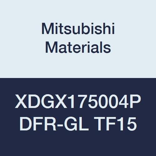 Pack of 10 Class G Mitsubishi Materials XDGX175004PDFR-GL TF15 XDGX Series Carbide Milling Insert 0.016 Corner Radius Sharp Honing Uncoated Special Design Grade TF15