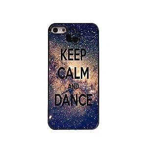 WQQ mantener el caso del diseño de aluminio calma y baile para el iphone 5 / 5s