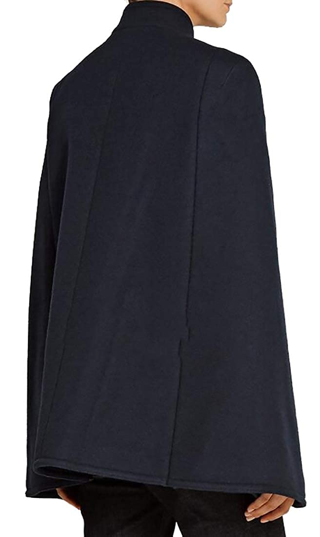 Generic Womens Fashion Winter Warm Woolen Cape Cloak Overcoat