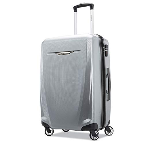 Samsonite Checked-Medium, Silver (Winfield 2 Fashion Hardside Spinner Luggage 28)