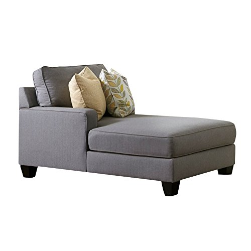 Left Arm Chaise - Bowery Hill Left Arm Facing Corner Chaise in Alloy