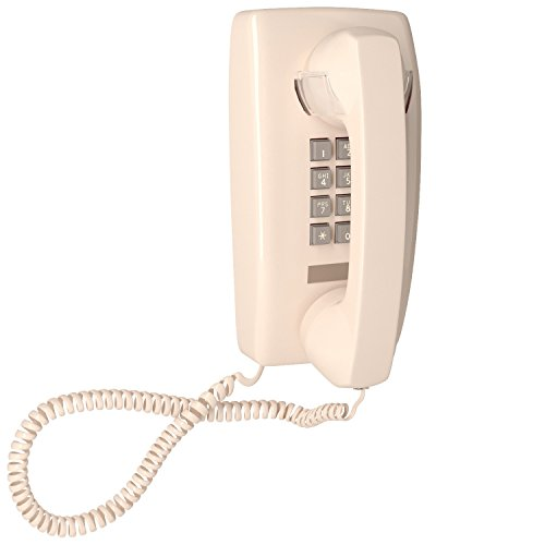 Home Intuition Single Line Wall Mounted Corded Telephone with Extra Loud Ringer, ()