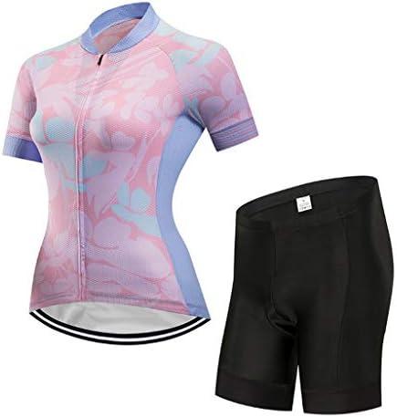 レディースサイクリングジャージショーツ半袖セット速乾性通気性サイクリングウェア