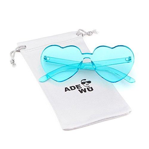 montura Gafas de de sin en de para Blue corazón forma ADEWU Gafas Light forma mujer 1 sol niña corazón de sol con p6IqfnX