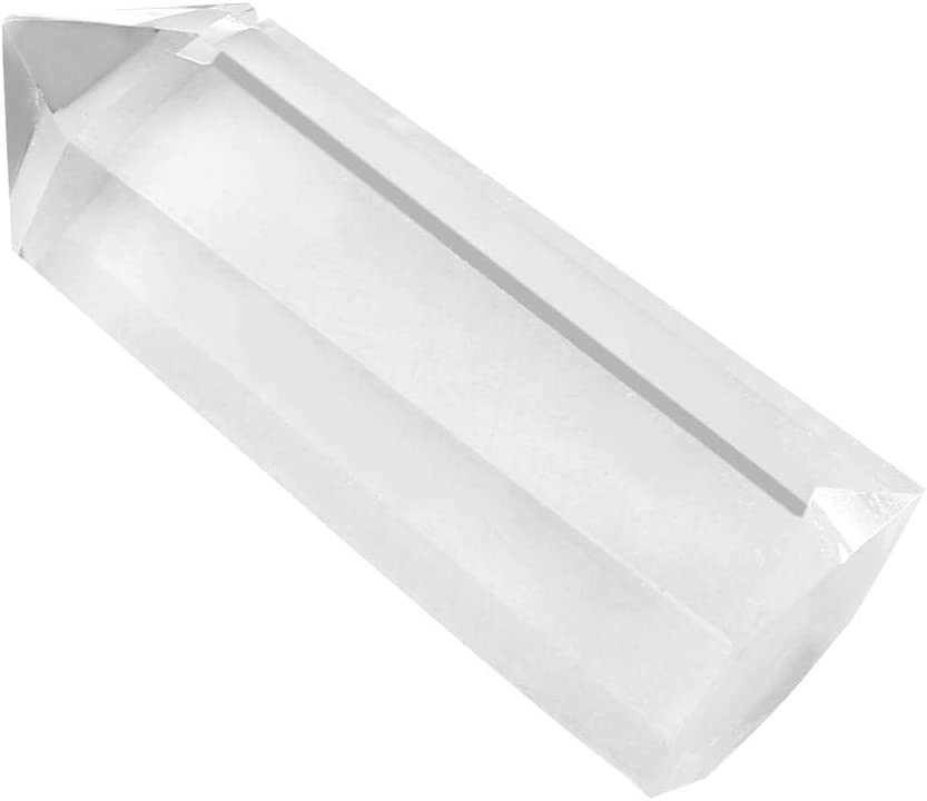 Wifehelper Varitas de Cristal Curativo Puntos de Cuarzo Transparente Cristal Natural Natural Cristal de Cuarzo Natural Pulido Piedras Caídas Decoración(5-6cm)