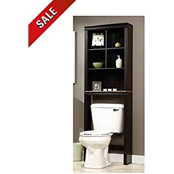 over the toilet spacesaver shelving storage cabinet over toilet stand bathroom organizer decor holder - Over The Toilet Bathroom Organizers