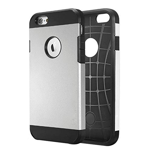 Phone Taschen & Schalen Für iPhone 6 / 6s, Hybrid PC + TPU Tough Armor Farbe Hard Case Cover ( Color : Silver )