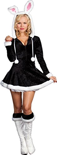 Dreamgirl Womens Hip To The Hoppity Bunny Rabbit Outfit Fancy Dress Sexy Costume, L (10-14) (2)