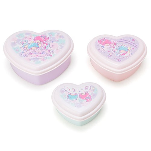 [Sanrio Little Twin Stars heart-shaped lunch case three set Fancy Pop From Japan New] (Funny Pop Culture Costume Ideas)