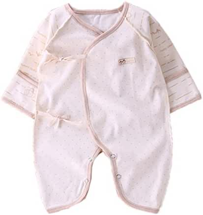 Newborn Cotton Kimono Side Tie One Piece