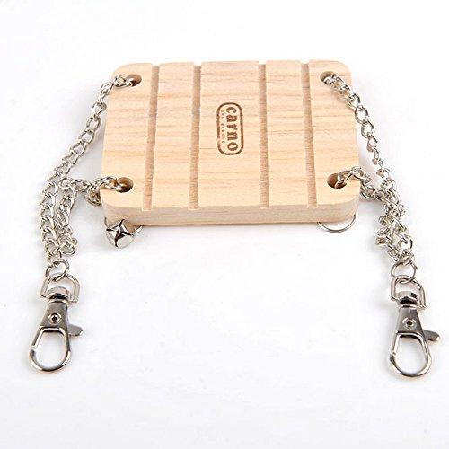 HSL Holz-Schaukel mit Glocke Spielzeug fur Hamster Ratte Maus und Kleintiere