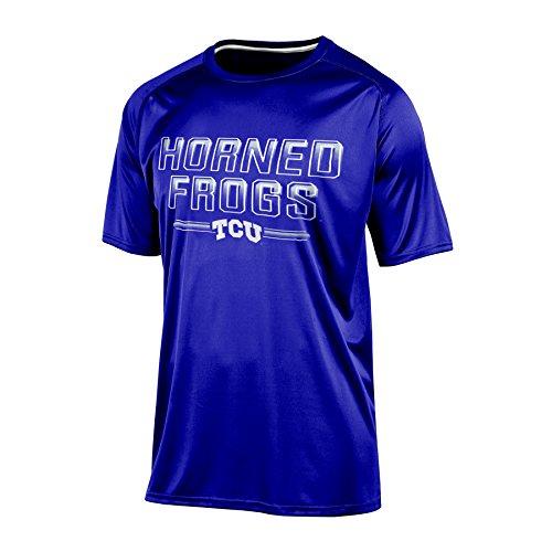Champion (CHAFK) Adult NCAA Champion Men's Training Short Sleeve Synthetic T-Shirt, Large Purple ()