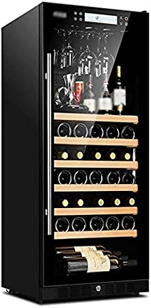YFGQBCP 48 Botellas de Vino más Fresco, Incorporado refrigerado por Aire Independiente/Panel de Control Libre-Frost/Anion purificación Funcionamiento silencioso/Touch con la polea