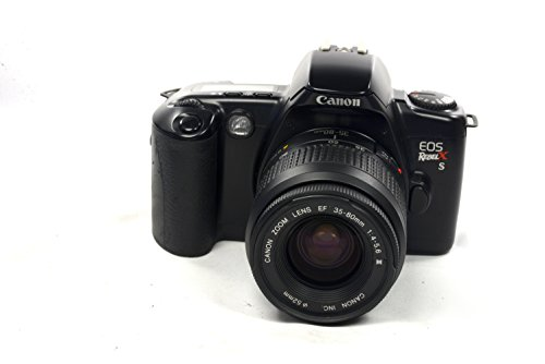 - Black Canon EOS REBEL X S 35mm FILM SLR Camera Body & Lens