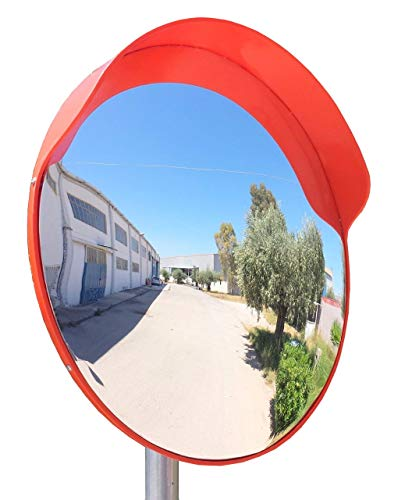 - ECM-60-o Convex Polycarbonate Traffic Mirror, Orange color, diameter 24