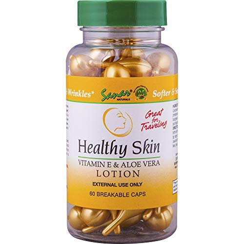 Healthy Skin Aloe Vera Gel and Vitamin E Oil Moisturizer - 1 Pack - Lotion for Dry Skin, Face and Hand, Scar Cream, Beauty Perfume Moisturizing Skin Care, Travel Size Body Lotion for Women