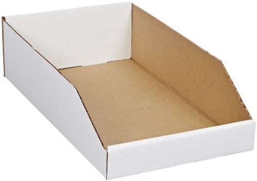 Corrugated Shelf Bins - Aviditi BINEB1810 Corrugated Open Top Bin Box, 18