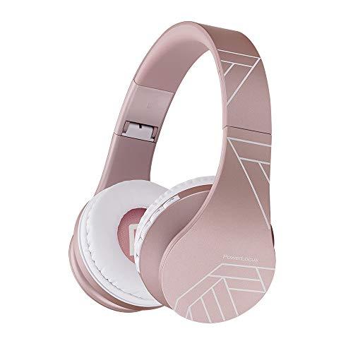 Bluetooth Headphones Over Ear, PowerLocus Bluetooth Headphone Rose Gold, Wireless Headphones Foldable, Hi-Fi Stereo…