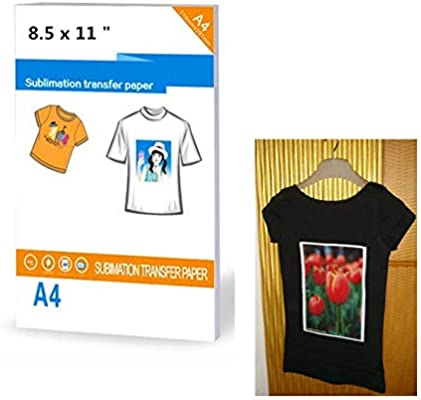 Amazon Com 30 Sheets Heat Sublimation Transfer Paper Printable Heat