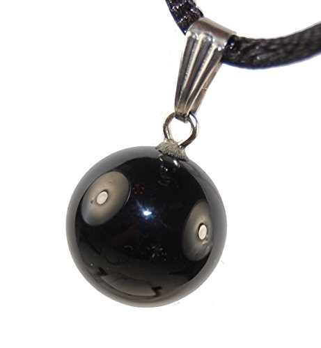 Steampunkers USA Celestial Collection - 14mm Moon Sphere Ball Black Onyx, 20