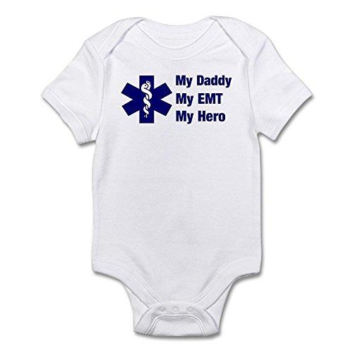 CafePress My Daddy My EMT - Cute Infant Bodysuit Baby ()