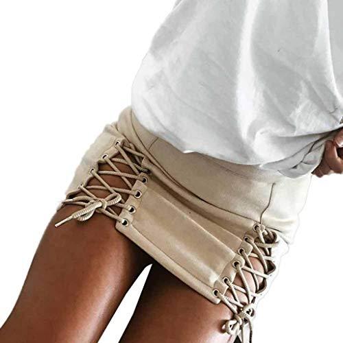 Femme Bodycon Sexy Automne Bandage Daim Hiver Sixcup Sud Suede Tissu Robe Mini Jupe Sexy Elastique Courte Kaki Jupe Crayon Courte qPRaa5d