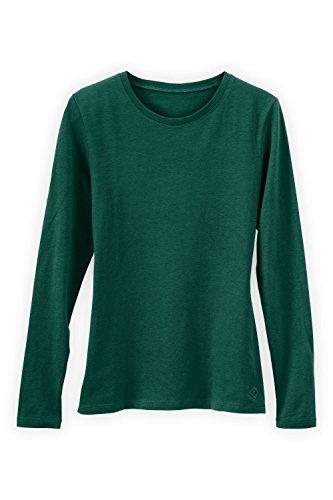 - Fair Indigo Fair Trade Organic Essential Long Sleeve Crew Neck Tee (XL, Clover Green)