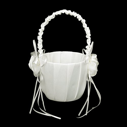 Flower Buds Decorated with Wedding Bouquets, Girl Basket Ivory