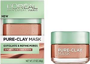 L'Oréal Paris Pure Clay Mask Exfoliate And Refine Pores, 1.7 oz.