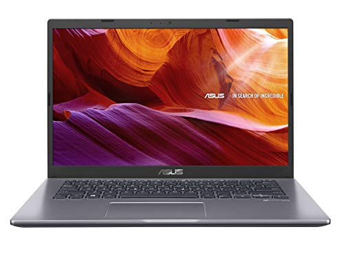 ASUS VivoBook 14 M409DA-EK147T AMD Quad Core Ryzen 5-3500U 14-inch FHD Compact and Light Laptop (8GB RAM/256GB NVMe SSD/Windows 10/Integrated Graphics/FP Reader/1.60 kg), Slate Grey