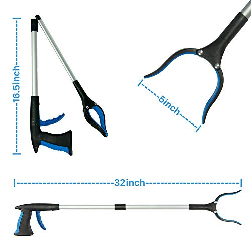 """Walensee Grabber Tool, 32"""" Foldable Grabber Reacher Tool for Elderly, Reacher Tool, Trash Picker Grabber, Reacher Grabber, Long Grabber, Litter Picker, Garden Nabber, Reaching Assist Tool (2 PACK) by Walensee (Image #4)"""