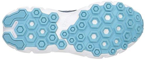 Reebok Womens Hexaffect Courir 4.0 Mtm Chaussure De Marche Noble Bleu / Bleu Clair / Blanc / Jaune Solaire