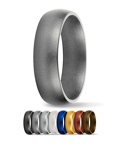 Saferingz Silicone Wedding Ring 6mm Made In The Usa Men