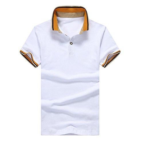 Amoystyle Mens Short Sleeve Polo Shirt