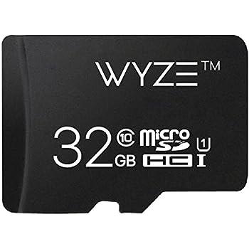Wyze Labs Expandable Storage 32GB MicroSDHC Card Class 10, Black - WYZEMSD32C10