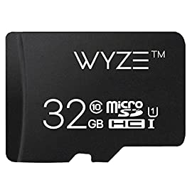 Wyze Labs Expandable Storage 32GB MicroSDHC Card Class 10 34 Class 10 and UHS-1 (U1) Media Storage: ~2,880 minutes (48 hours) of HD video, ~10,080 minutes (168 hours) of SD video, and ~4,200 16MP photos based on internal testing results Read Speed: 90MB/s and Write Speed: 20MB/s