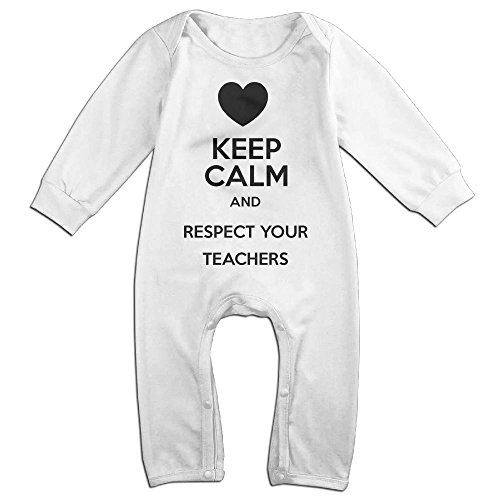 Librarian Costume Props (Baby Infant Romper Keep Calm And Put Your Lipstick On F22 Long Sleeve Bodysuit Outfits Clothes White 6 M)