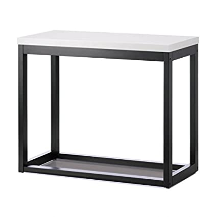 Long Wooden Table, Rustic Side Top Table Long And Skinny Black White
