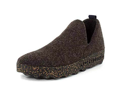 Womens Brown Tweed - ASPORTUGUESAS Womens City Tweed Slip On Brown Sneaker - 37