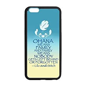 "Fashion Lilo and Stitch OHANA Hard TPU GEL Protective Cover Rubber Shell Skin for iPhone 6 Plus 5.5"""