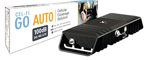 Cel-Fi GO Vehicle | AT&T Cell Phone Smart Signal Booster 4G LTE | Mobile  Mag Mount Antenna and Amplifier Kit | All Carriers with Carrier Switching |