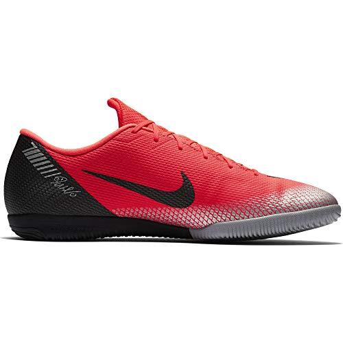 ef5732009e4 NIKE Men s CR7 VaporX 12 Academy Indoor Soccer Cleat Bright Crimson Black  Chrome