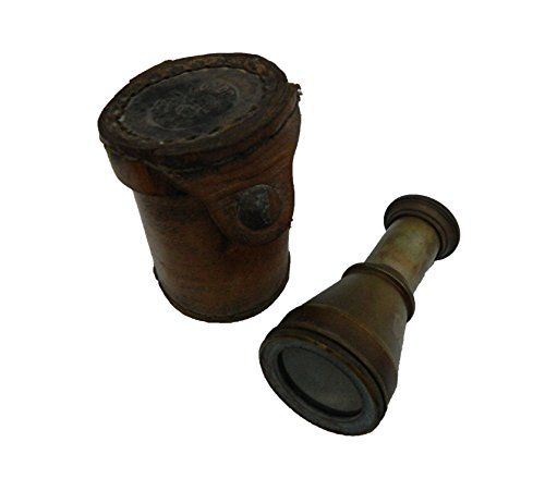 BHARAT HAAT Pure Brass, Glass & Leather cover Telescope in Fine Finishing Handicraft and Decorative by BH04313 by BHARAT HAAT